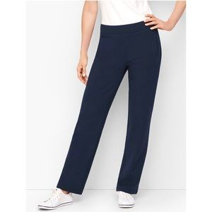 T by Talbots Relaxed Prima Cotton Navy Pants NWT